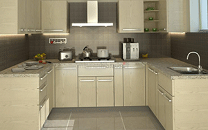 C Shape Kitchen